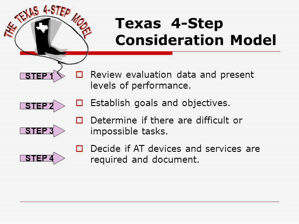 Texas 4-Step Consideration Model