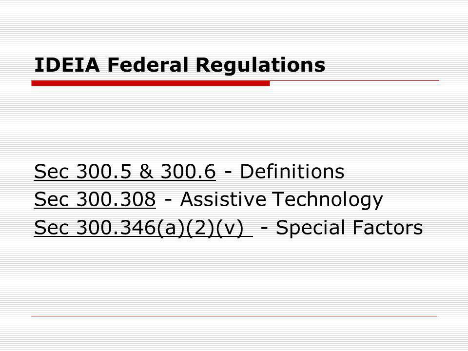IDEIA Federal Regulations