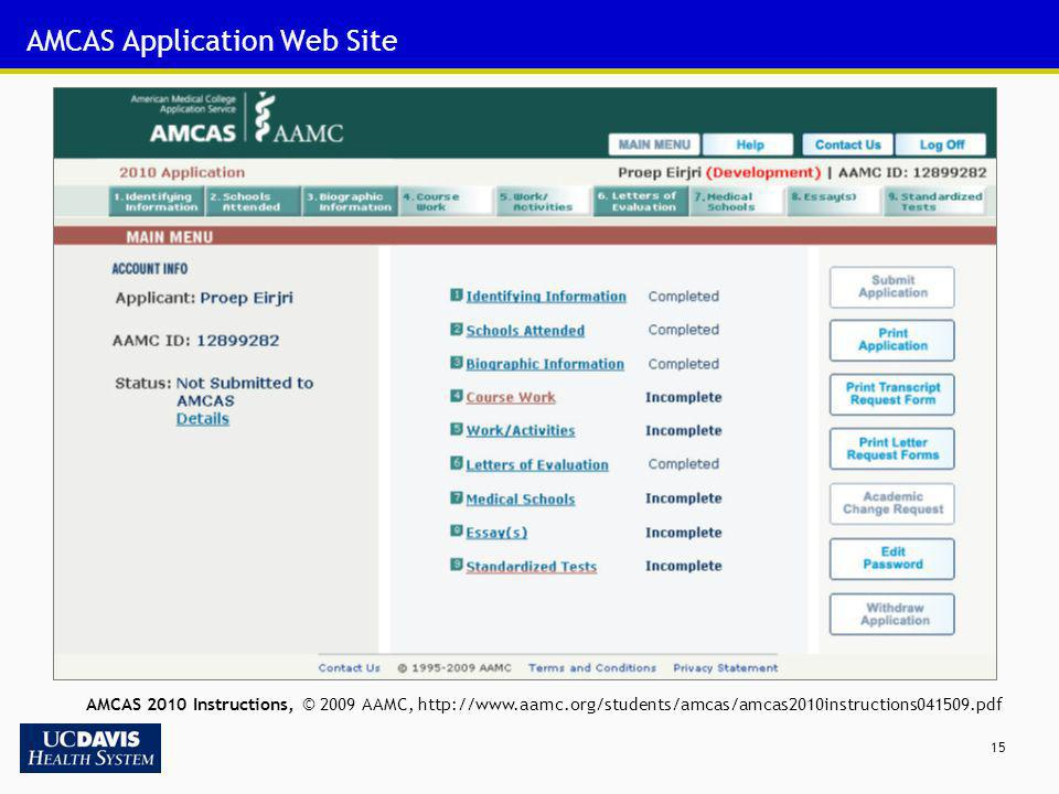 AMCAS Application Web Site