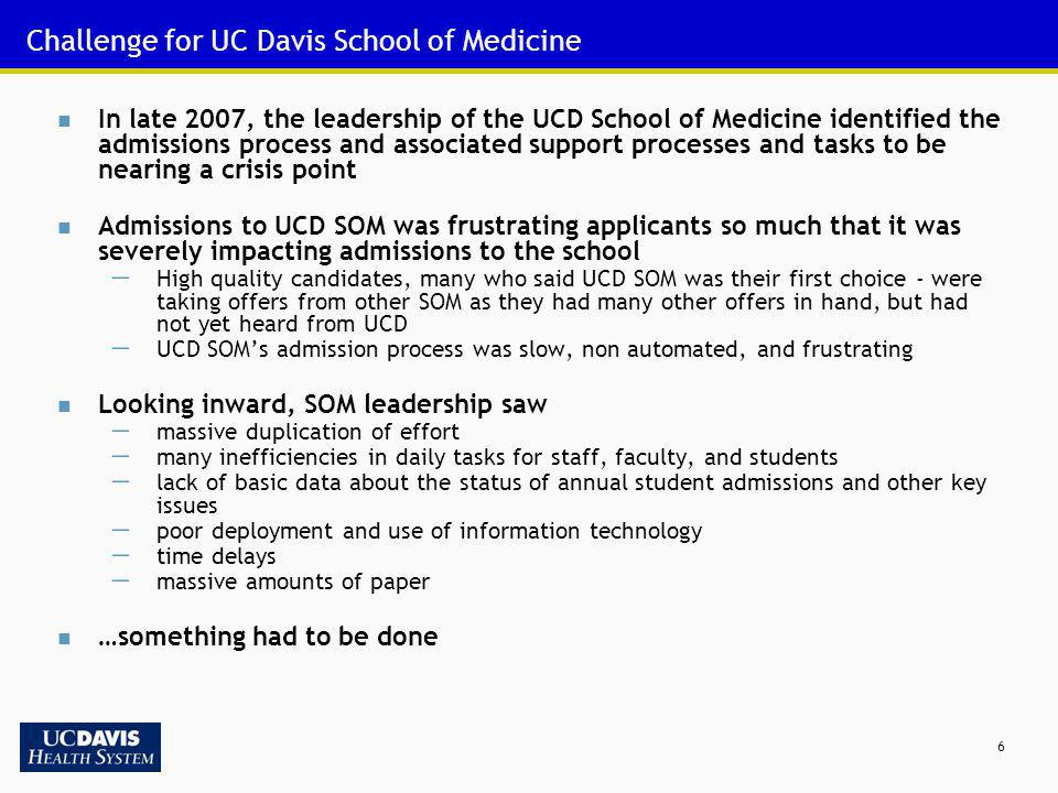 Challenge for UC Davis School of Medicine