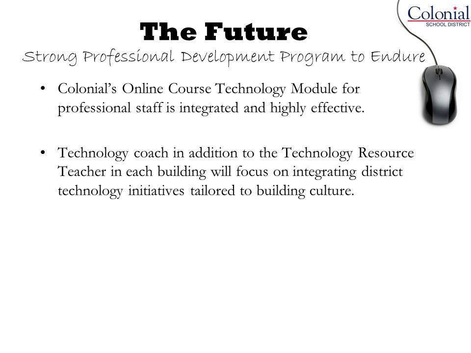 The Future Strong Professional Development Program to Endure
