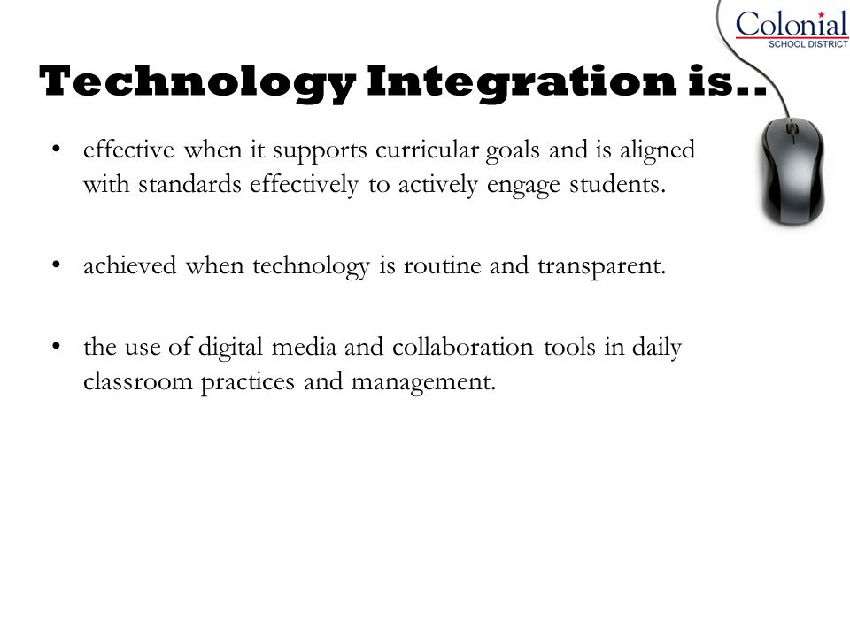 Technology Integration is..