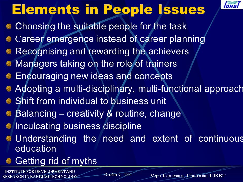 Elements in People Issues