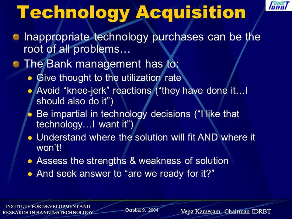 Technology Acquisition