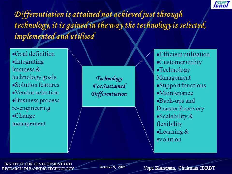 For Sustained Differentiation