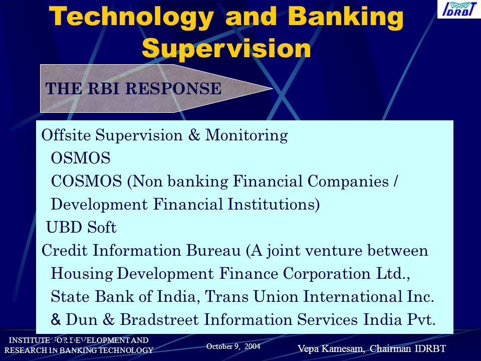 Technology and Banking Supervision