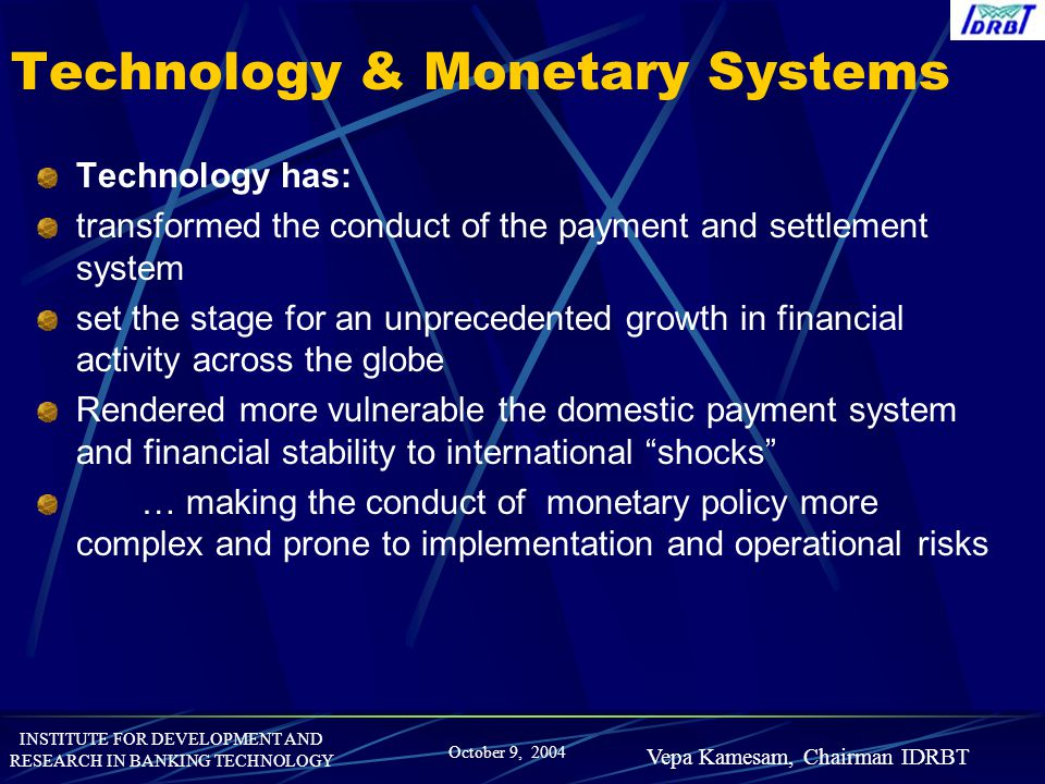 Technology & Monetary Systems