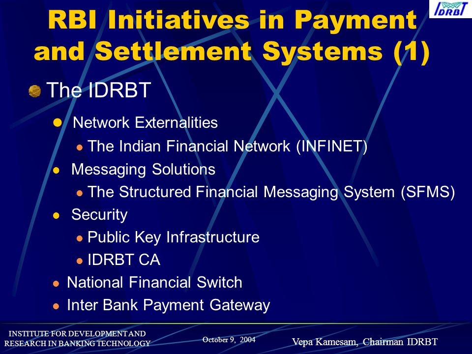 RBI Initiatives in Payment and Settlement Systems (1)