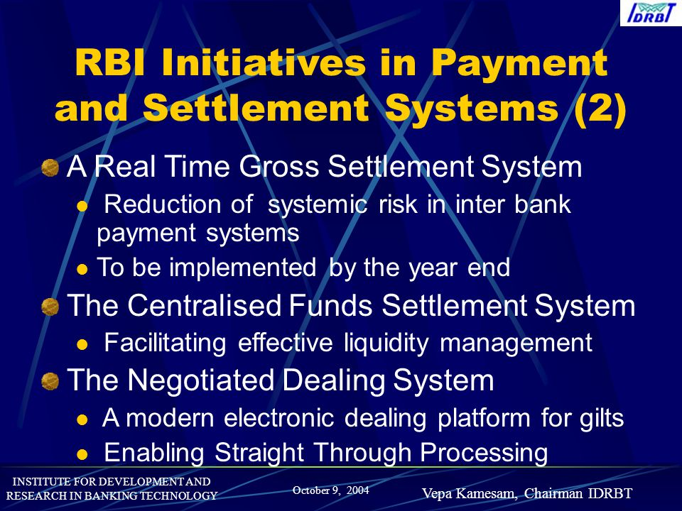 RBI Initiatives in Payment and Settlement Systems (2)