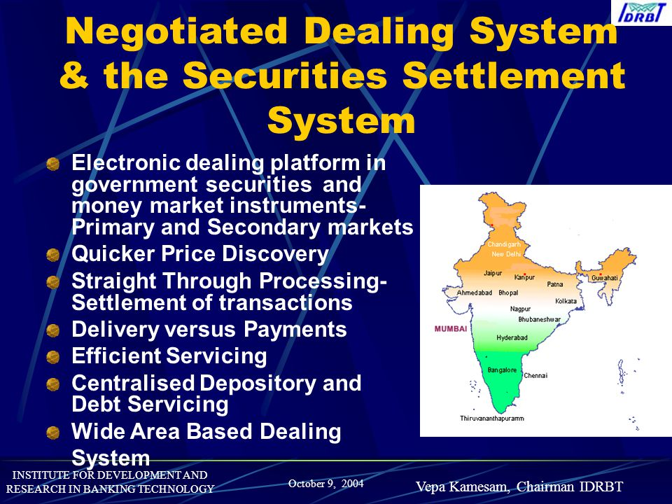 Negotiated Dealing System & the Securities Settlement System