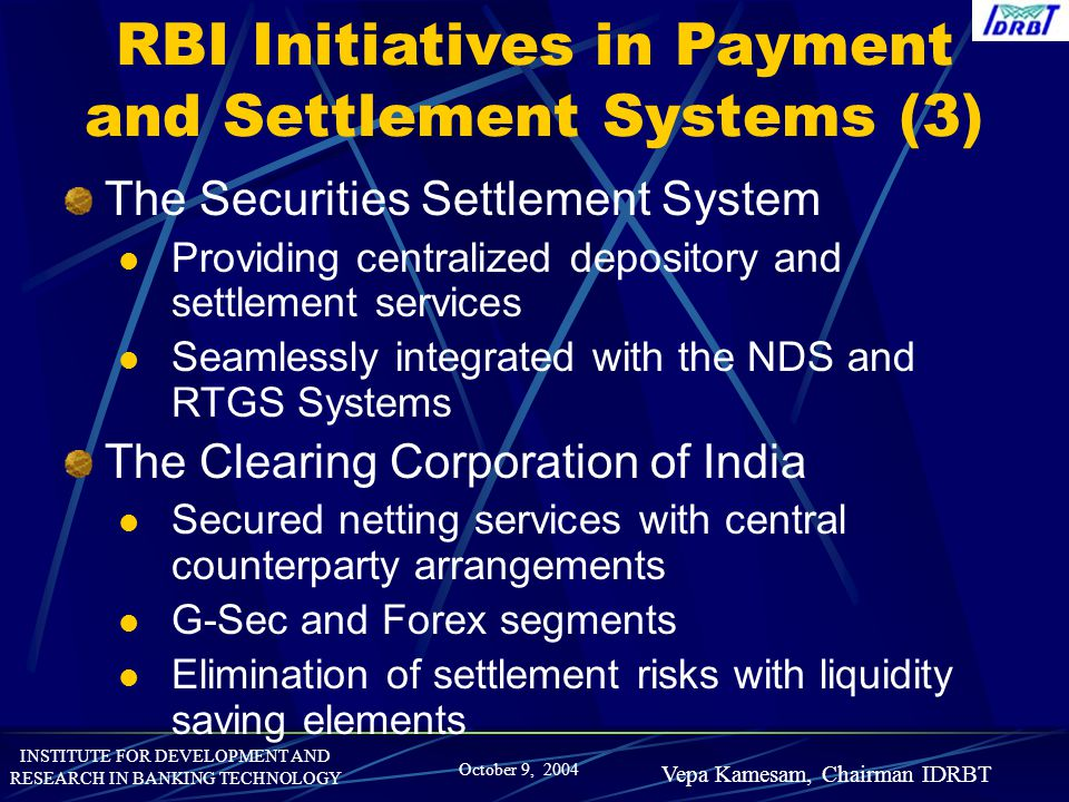 RBI Initiatives in Payment and Settlement Systems (3)