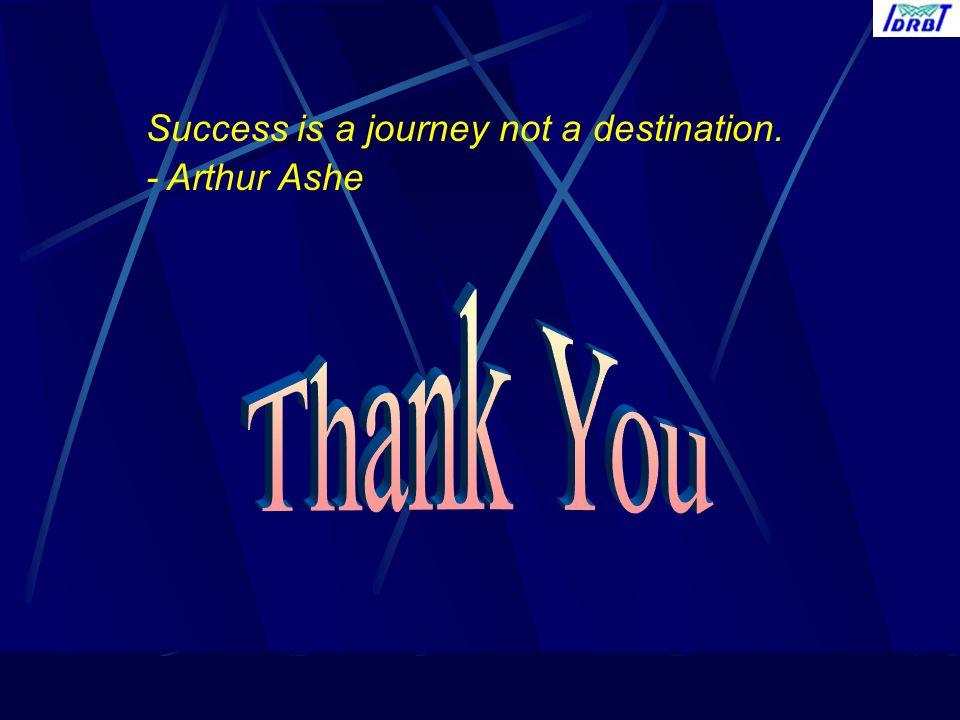 Success is a journey not a destination.