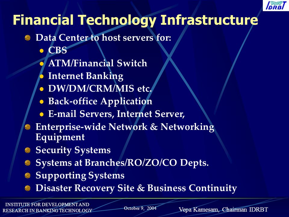 Financial Technology Infrastructure