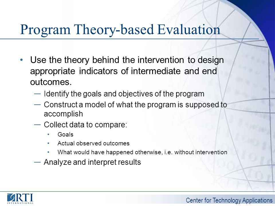 Program Theory-based Evaluation