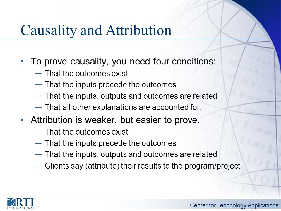 Causality and Attribution