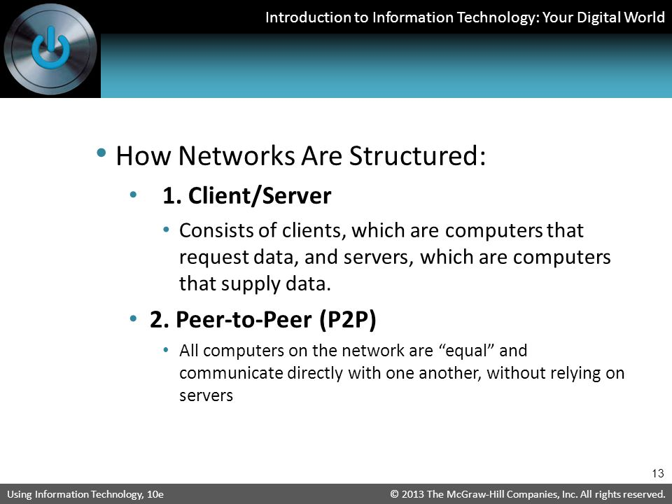 How Networks Are Structured:
