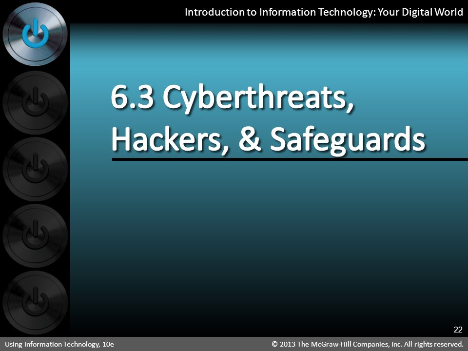 6.3 Cyberthreats, Hackers, & Safeguards