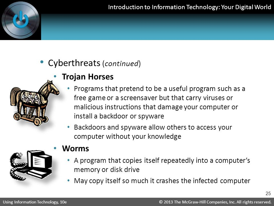 Cyberthreats (continued)