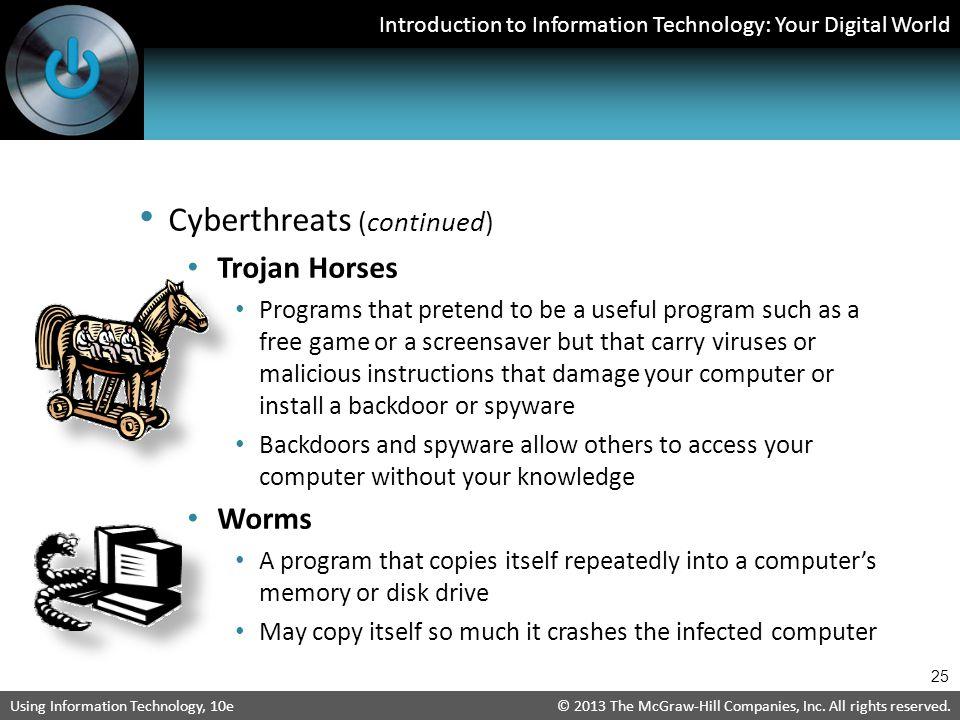 Cyberthreats (continued)