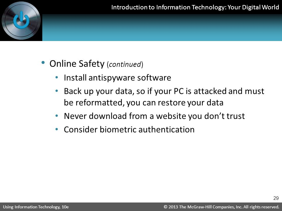 Online Safety (continued)