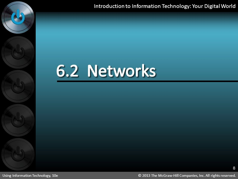 6.2 Networks