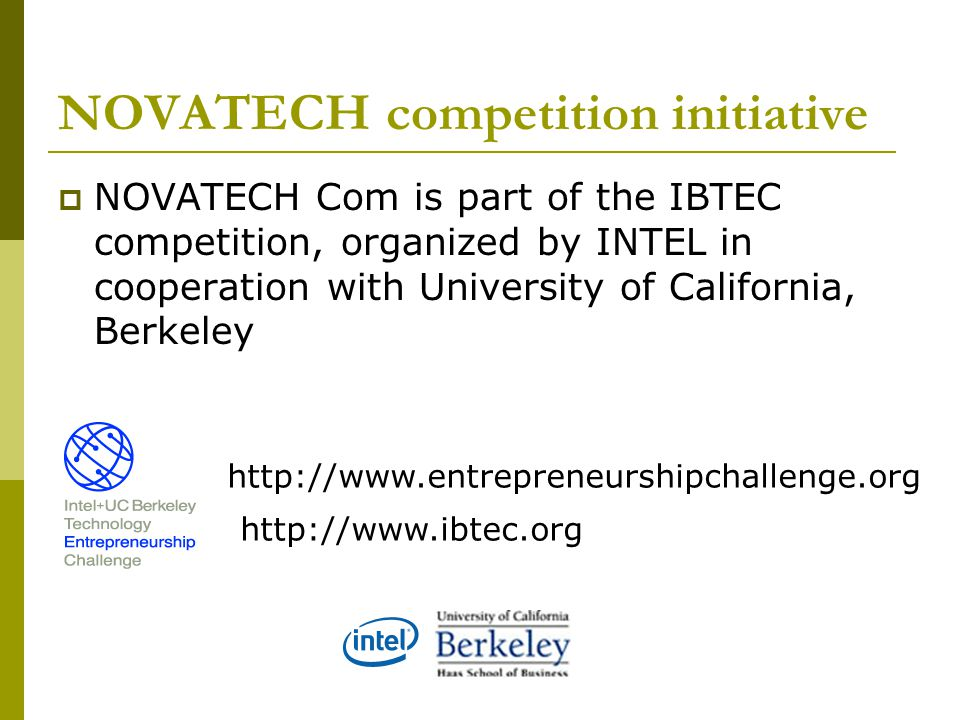 NOVATECH competition initiative