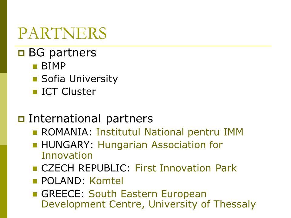 PARTNERS BG partners International partners BIMP Sofia University