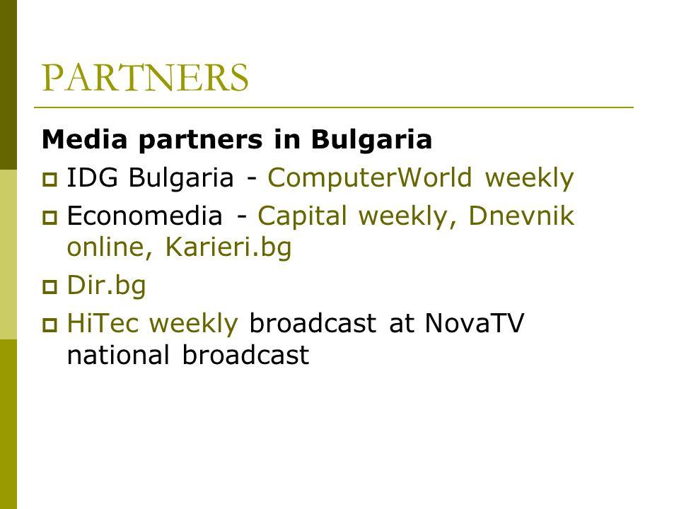 PARTNERS Media partners in Bulgaria
