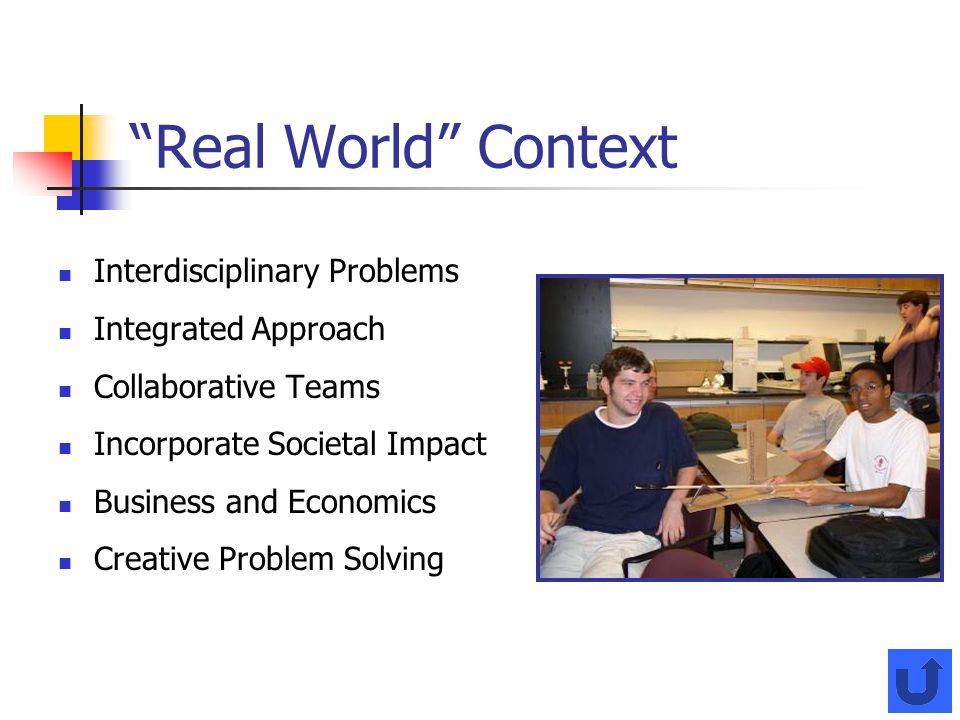 Real World Context Interdisciplinary Problems Integrated Approach