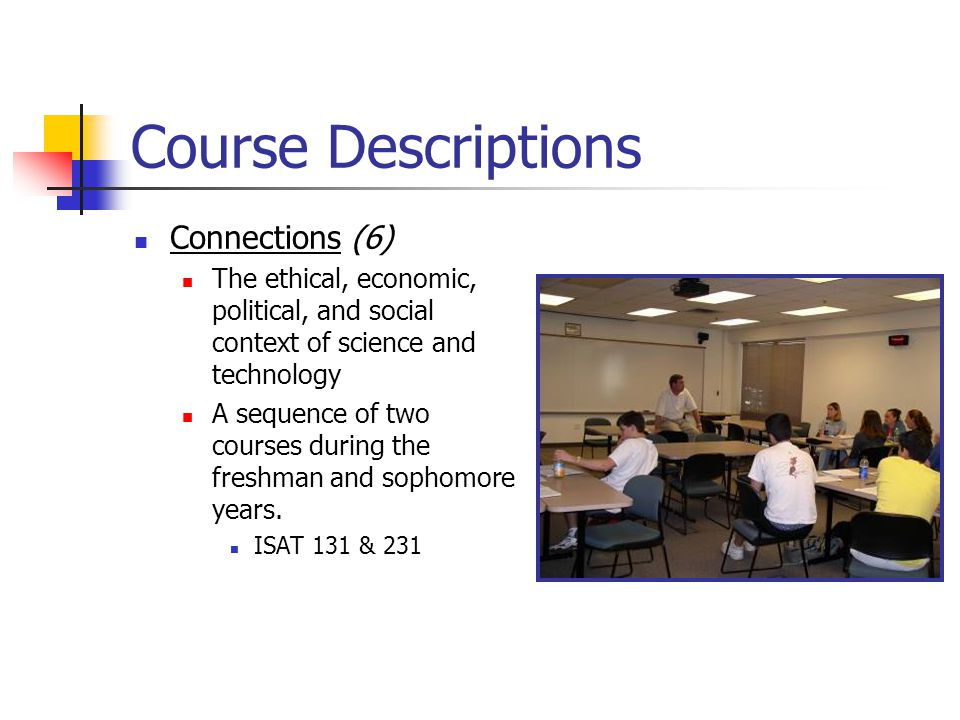 Course Descriptions Connections (6)