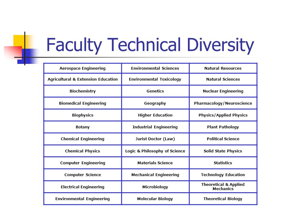 Faculty Technical Diversity