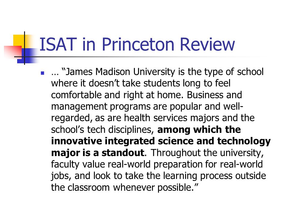 ISAT in Princeton Review