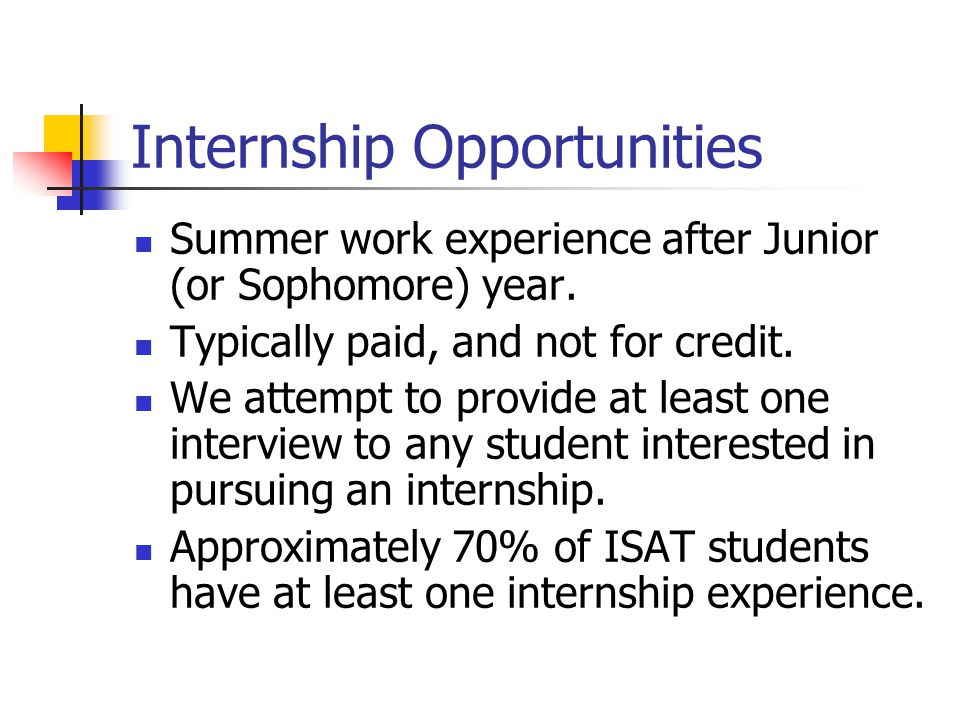 Internship Opportunities