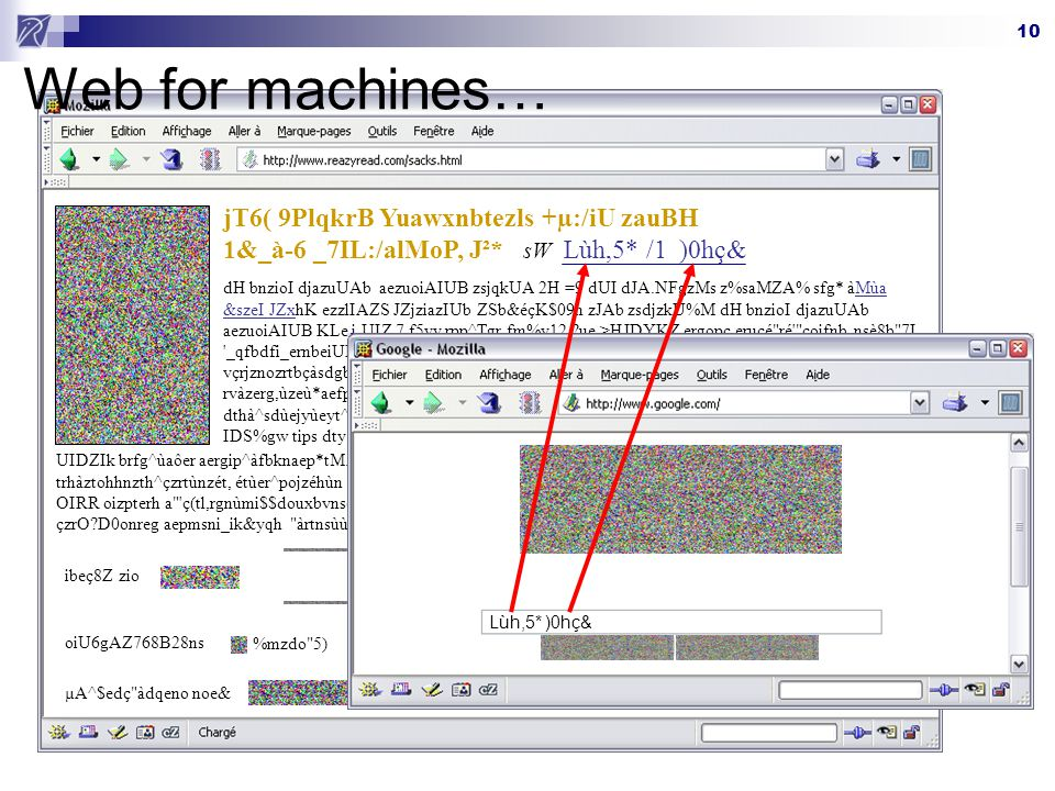 Web for machines… jT6( 9PlqkrB Yuawxnbtezls +µ:/iU zauBH 1&_à-6 _7IL:/alMoP, J²* sW. Lùh,5* /1.