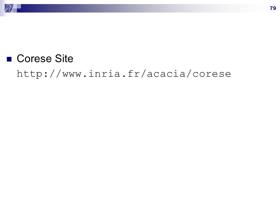 Corese Site http://www.inria.fr/acacia/corese