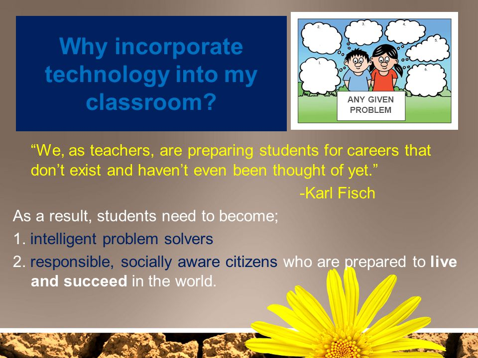 Why incorporate technology into my classroom