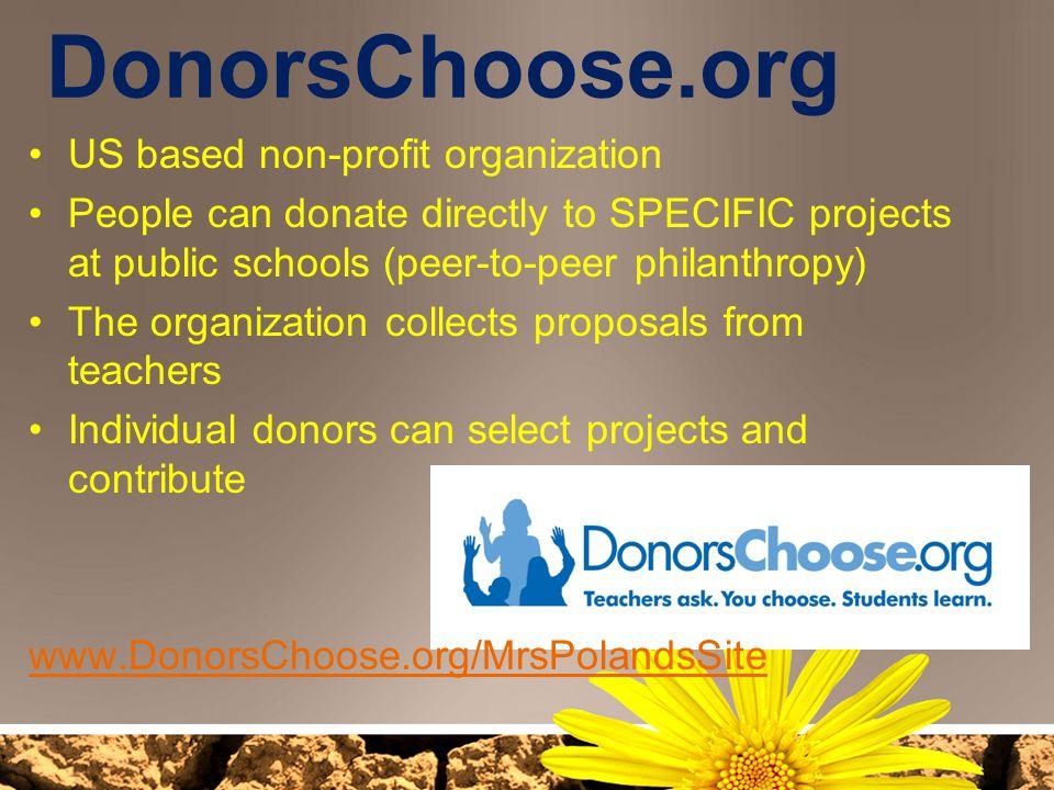 DonorsChoose.org US based non-profit organization