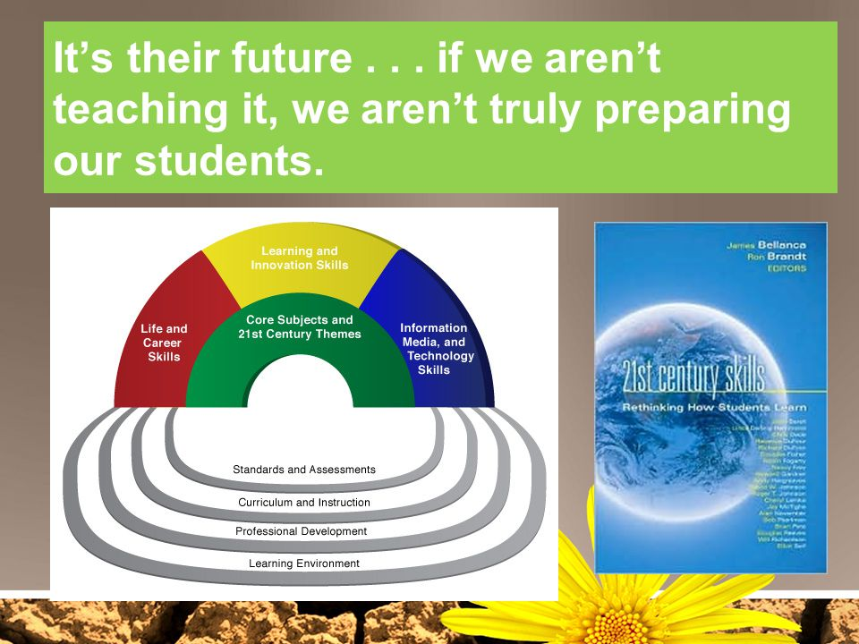 It's their future . . . if we aren't teaching it, we aren't truly preparing our students.