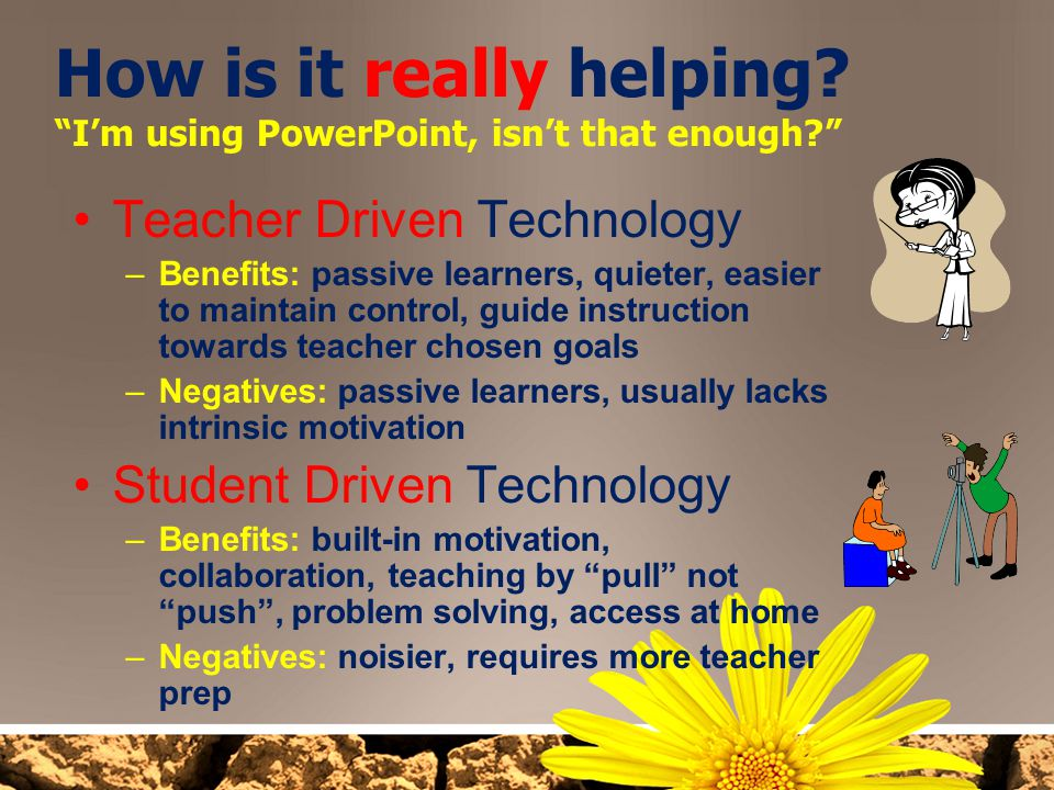 How is it really helping I'm using PowerPoint, isn't that enough