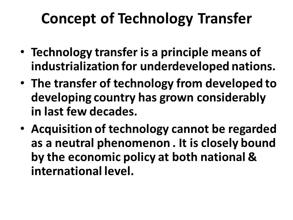 Concept of Technology Transfer