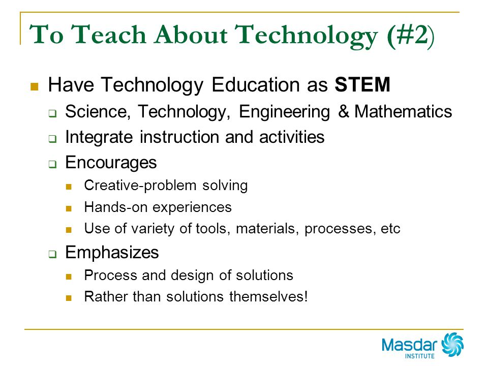 To Teach About Technology (#2)