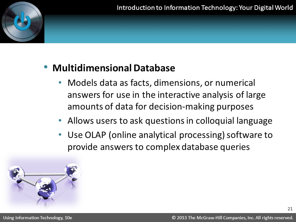 Multidimensional Database