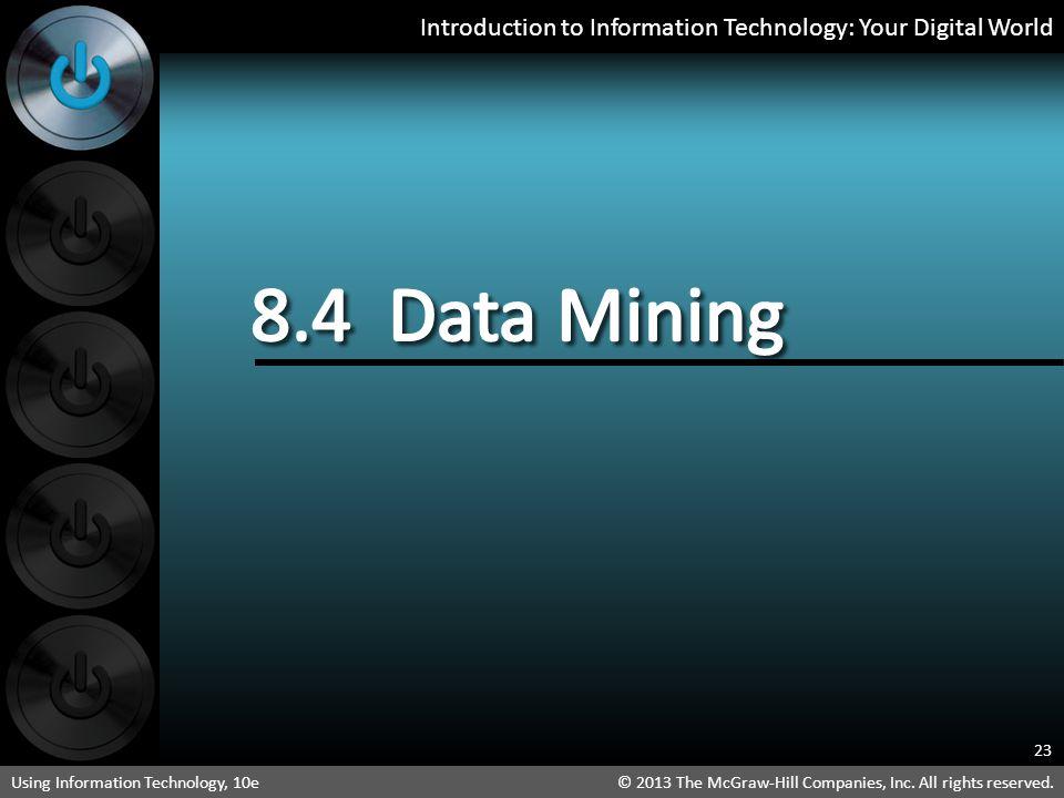 8.4 Data Mining