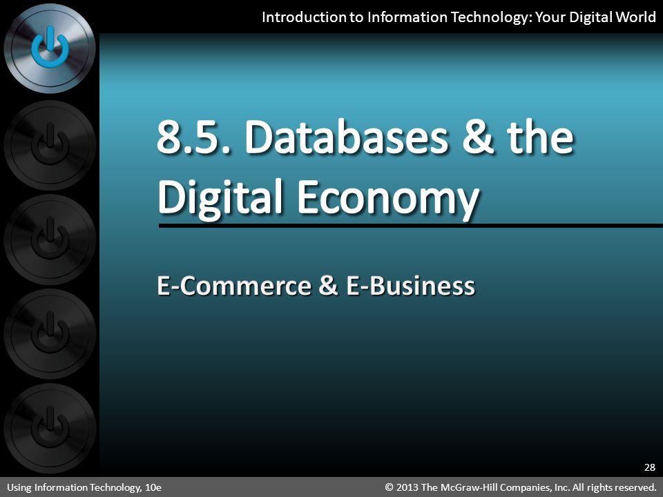 8.5. Databases & the Digital Economy