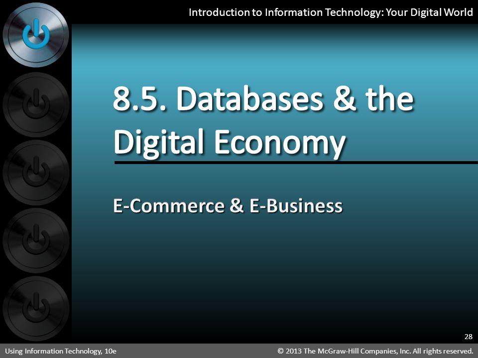 8.5. Databases & the Digital Economy