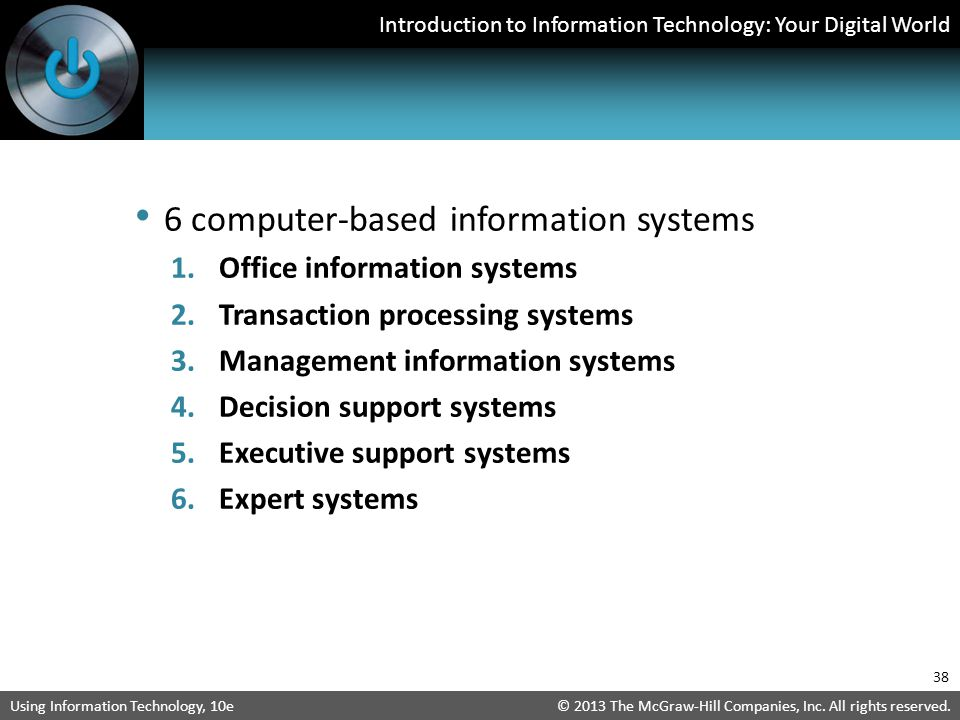 6 computer-based information systems