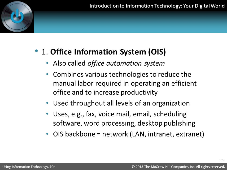 1. Office Information System (OIS)