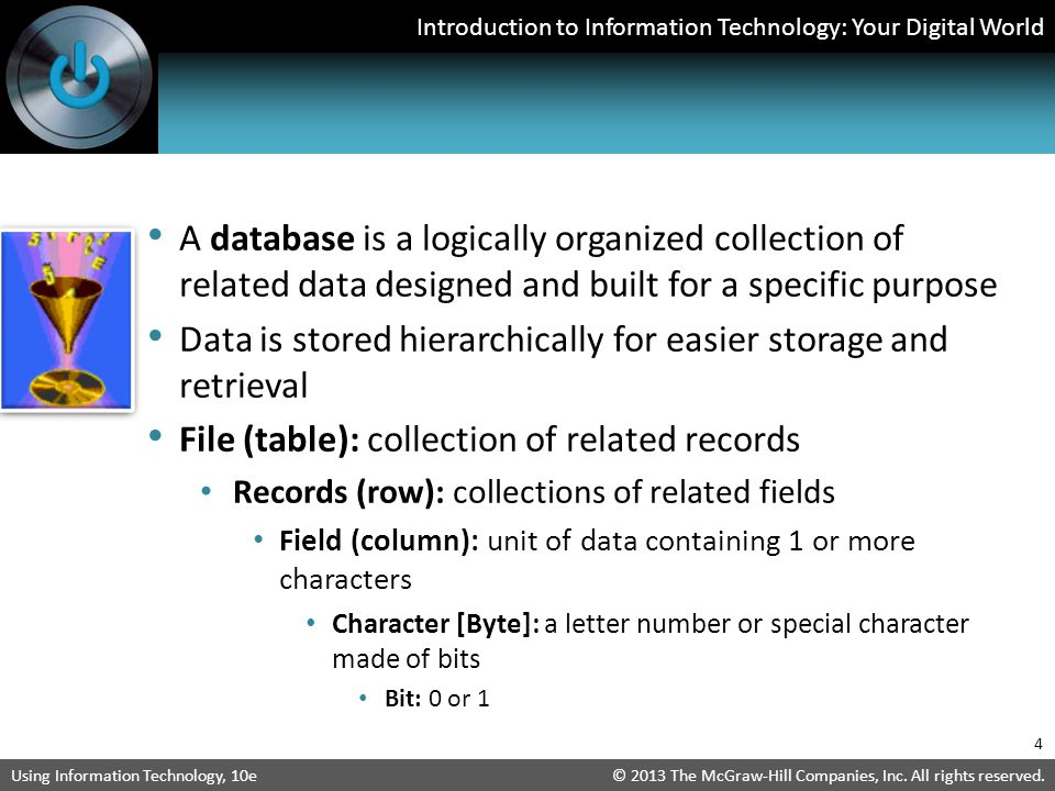 Data is stored hierarchically for easier storage and retrieval