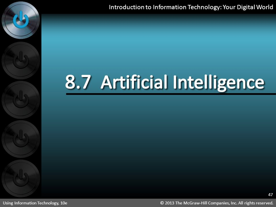 8.7 Artificial Intelligence