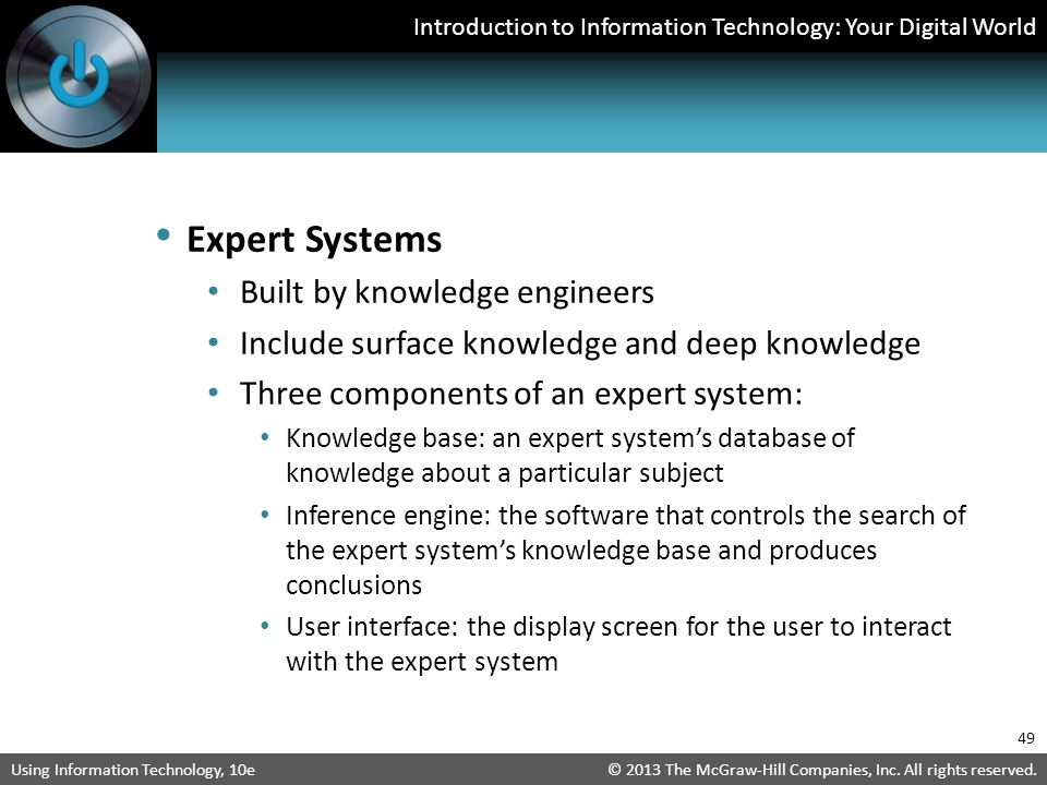 Expert Systems Built by knowledge engineers